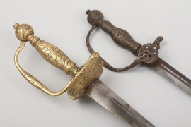 """Two French """"Galanterie"""" swords - 18th"""