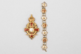 Order of Franz Joseph, Knight's Cross miniature with chain - gold