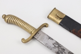 """Saxony - """"106.R."""" infantry fascine knife M 1845 - number matching"""