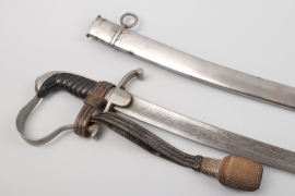 Saxony - saber for officers of light kavalry - with damaskus blade