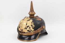Bavaria - M1886 7.Feld.Art.Rgt. spike helmet to the one-year volunteer Haas