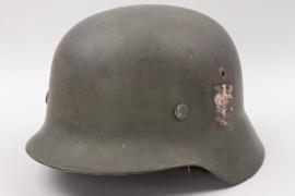 Heer M35 double decal helmet - 2.E.IR.106 (NS66)