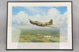 "US Air Force print ""BELLE...HOMEWARD BOUND"" - signed by Robert Morgan"