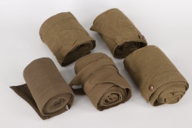 Wehrmacht lot of five tropical gaiters