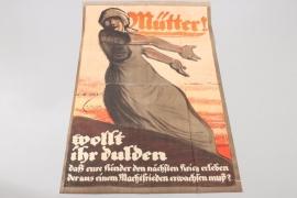 """WWI German propaganda poster """"Mütter!"""" - 142x92.5"""