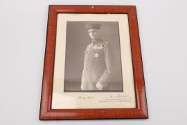 von Liebert, Eduard - Pour le Mèrite winner signed portrait photo