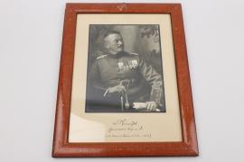 Paul, von Kneußl - Pour le Mérite with Oak Leaves winner signed portrait photo