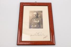von dem Borne, Kurt - Pour le Mérite with Oak Leaves winner signed portrait photo