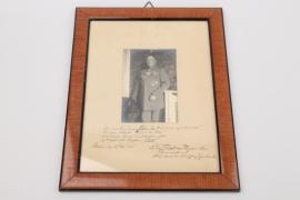 Finck von Finckenstein, Bernhard - Pour le Mérite winner singed portrait photo