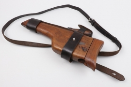 Mauser C96 broomhandle holster with leather harness