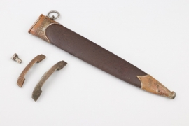 "Scabbard and crossgurads ""NS"" for an SA Service Dagger"