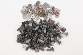 100 x Wehrmacht helmet rivets and washers