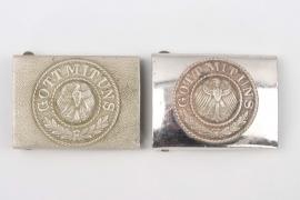 2 x Reichswehr EM/NCO buckles