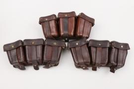 WWI three K98 ammunition pouches