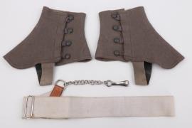 Wehrmacht sabre/sword belt & gaiters