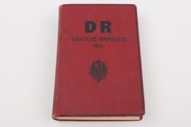 """""""DR Deutsche Rangliste 1914"""" book"""