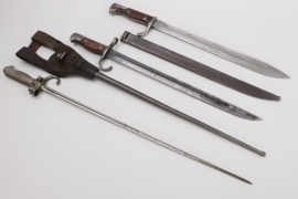 Bayonet SG 98/05 and two two foreign bayonets