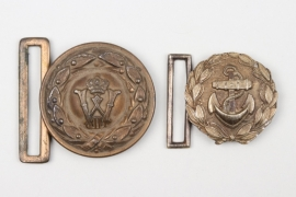 WWI Prussian officer's buckle & Kriegsmarine administration buckle