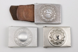 Three Police buckles - postwar