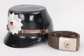 Volkspolizei shako with buckle & belt - EM