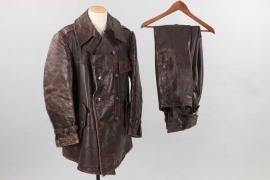 Hungary - WW2 tanker's leather jacket and trousers