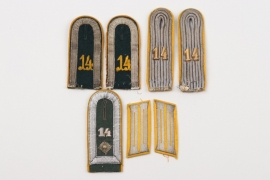 Heer Kav.Rgt.14 insignia grouping for a Leutnant