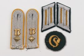 Heer Kav.Rgt.17 insignia grouping for an Oberleutnant d.R.