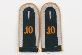 Heer Kav.Rgt.10 shoulder boards for a Unteroffizier