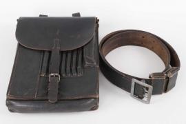Heer officer's belt and map case