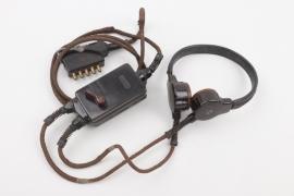 Luftwaffe Flak operator's throat microphone