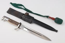 Heer Gebirgsjäger bayonet with leahter frog & knot - Herder