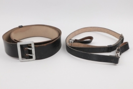 "Leader's belt ""Zweidornkoppel"" with shoulder strap - RZM"