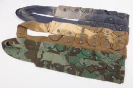 3 replica (!) paratrooper K98 ammunition bandoliers