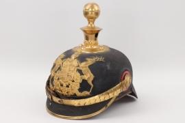 Württemberg - M1871 Feldartillerie one year volunteer's spike helmet