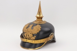 Prussia - M1891 Infanterie officer's spike helmet to Lt. Haltermann