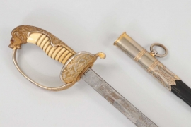 Kaiserliche Marine officer's lion head sabre with Iron mounting - Eickhorn