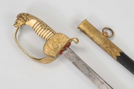 Kaiserliche Marine officer's lion head sabre with Damascus blade & ivory handle - WKC
