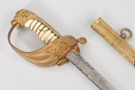 Kaiserliche Marine officer's lion head sabre with ivory handle - Eisenhauer