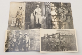 WW1 gas mask related photographs
