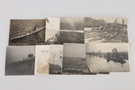 WW1 9 U-Boot related photographs