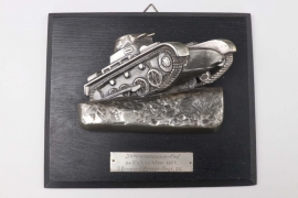 Impressive Panzer-Rgt. 25 wall relief to the company commander