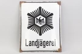 """""""Landjägerei"""" enamel sign -54x43"""