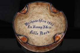 JG26 Christmas 1943 ceramic ashtray