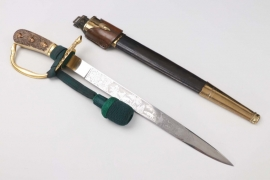Forestry hunting dagger with frog & knot - ALCOSO