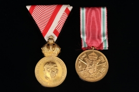 Lot of Austrian and Bulgarian WWI medals