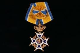 Netherlands - Order of Orange Nassau, Officer Cross in Gold on ribbon with rosette