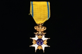 Sweden - Order of the Sword - Knight Cross 1st Class in Gold