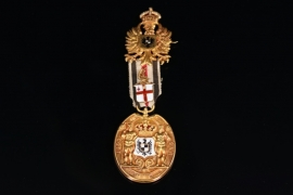 Prussia / United Kingdom - Gold medal for the Kaiser's official visit to the City of London on July 10, 1891