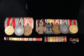 Two Medal bars with Austrian Hungarian WWI Medals