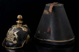 Württemberg- artillery EM/NCO spike helmet in case